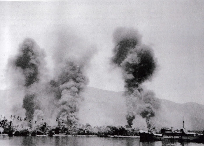 January 1943, the bombing of Milne Bay.