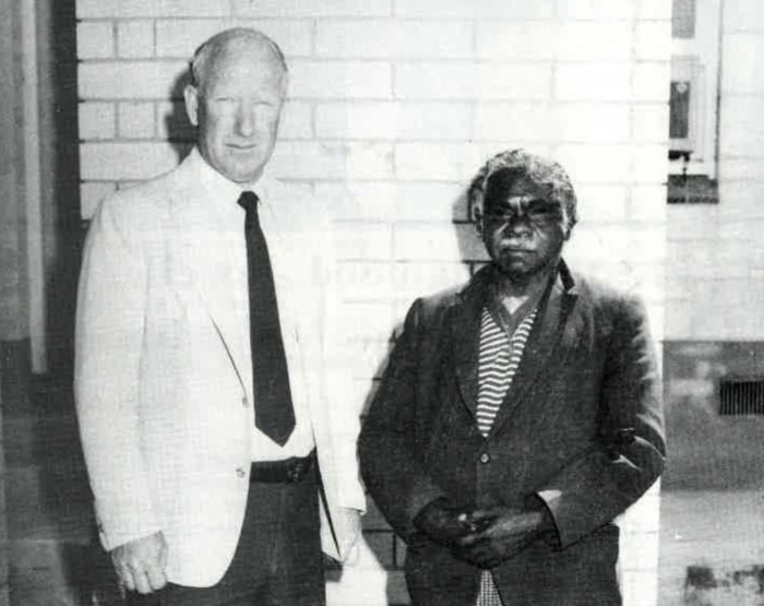 Jimmy James with Retired Detective Chief Inspector Bill Newman