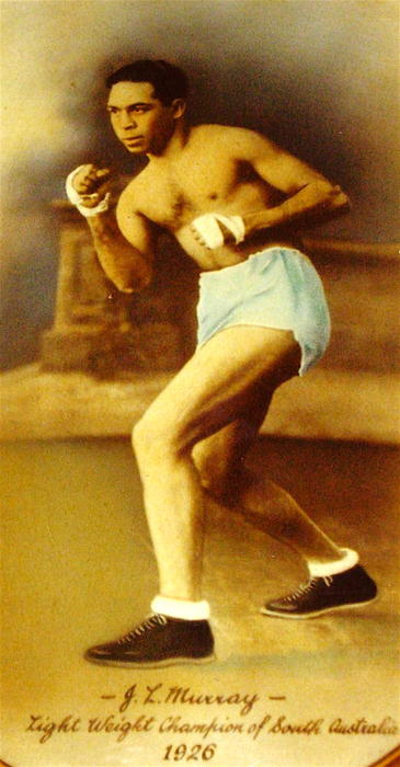 Aboriginal boxer Joe Murray was known as the 'Black Panther'