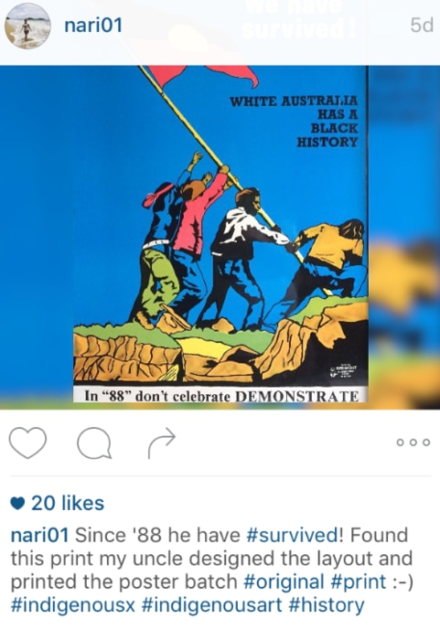 Instagram land rights poster