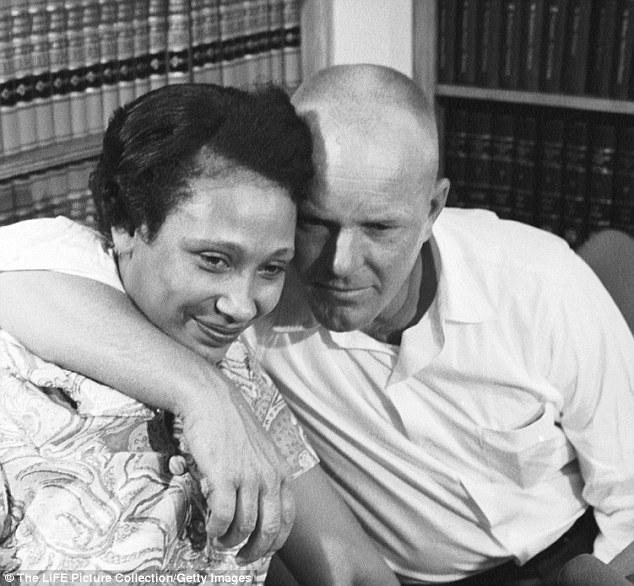 Mildred and Richard Loving at a press conference the day after the Supreme Court decision