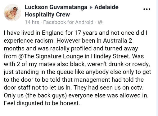 """Luckson Guvamatanga said he was """"shocked"""" and """"couldn't quite believe"""" what was happening to him and his friends"""