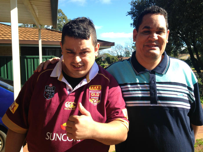 Luke and Justin Reynolds, Aboriginal brothers with Fragile X Syndrome living in Dubbo