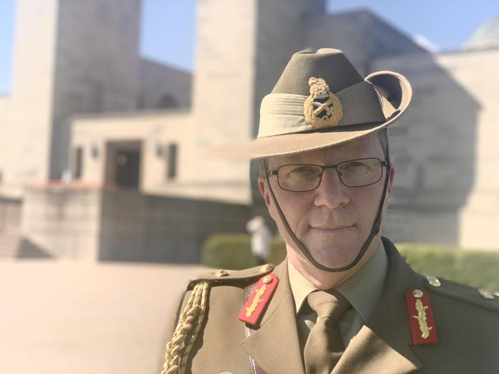 A close up photo of Major General Marcus Thompson in his full military uniform,