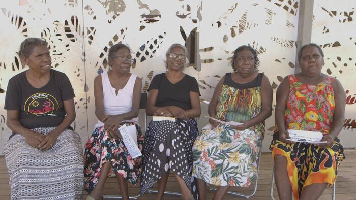 Some of the members of the Gay'wu Group of Women.