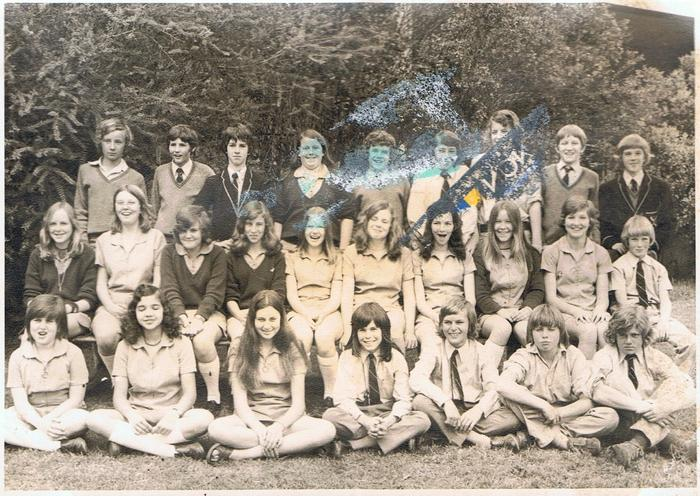School photo of Marg and Mandy (front row, bottom left)