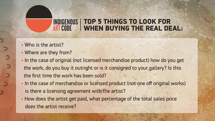 Things to look for when buying Indigenous art