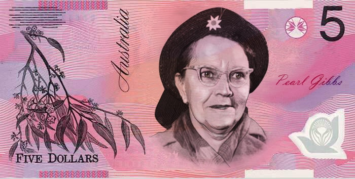 Pearl Gibbs $5 note