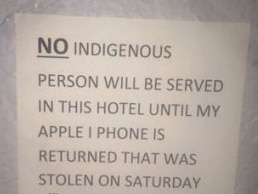 A sign put up by the proprietor of the Coolgardie Hotel