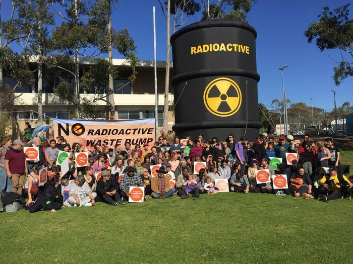 Aboriginal Elders and supporters have been campaigning against the nuclear waste dump for years. Source: AAP