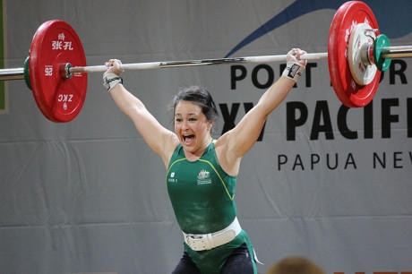 Weightlifter Erika Ropati-Frost.