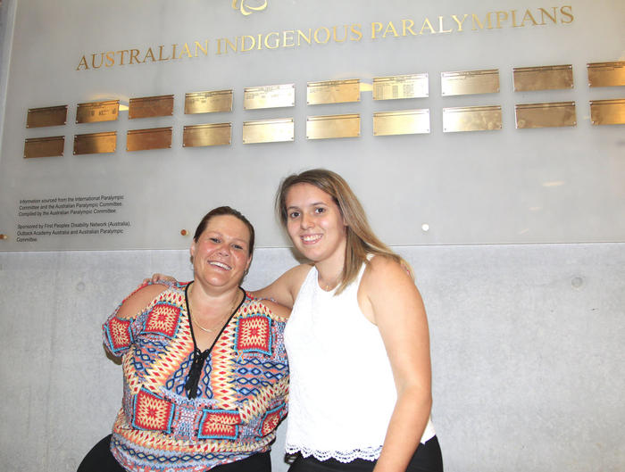 Paralympians Tracy Barrell and Amanda Fowler at the National Centre of Indigenous Excellence