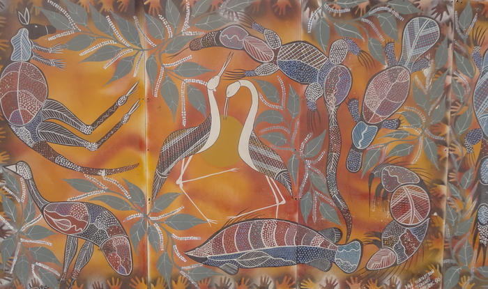 Mural outside Winnunga Nimmityjah Aboriginal Health and Community Services, Canberra.