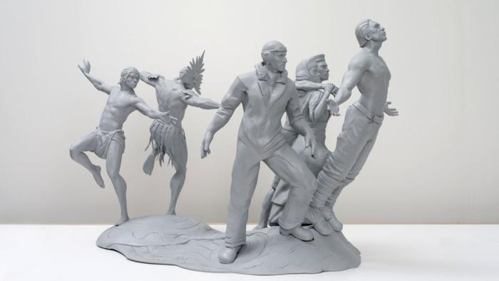 The memorial, which is designed by Wakka Wakka artist, John Smith Gumbula and master sculptor Liam Hardy,