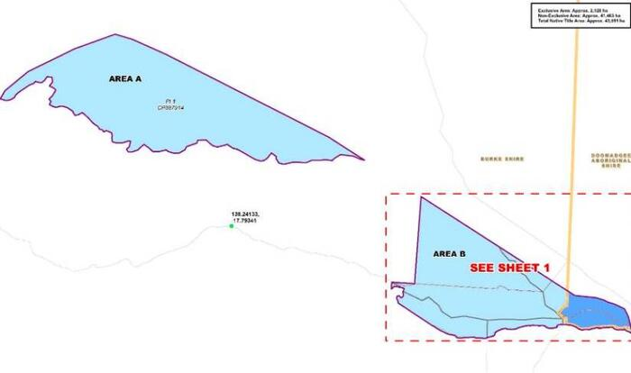 A map of the Native Title area, Waanyi