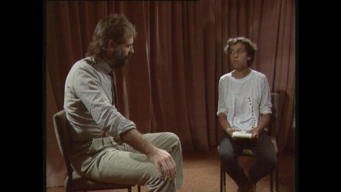 A young Rachel Perkins being interviewed for CAAMA.