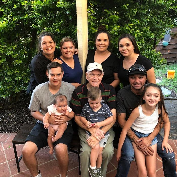 Nathan Reynolds with his family