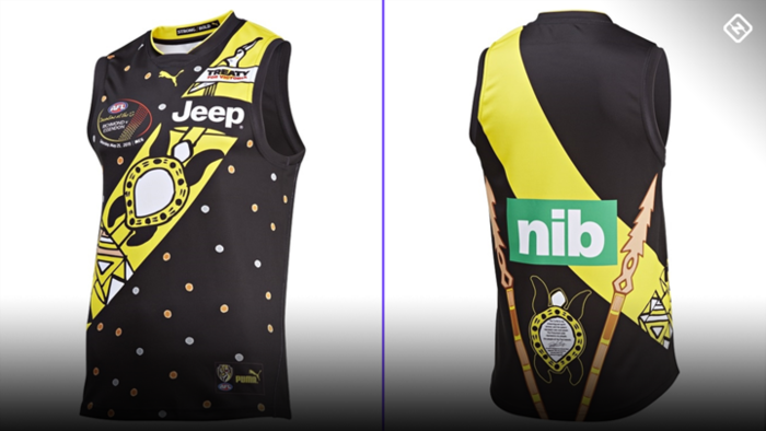 Cyril Rioli's legacy is celebrated on the 2019 design of the RIchmond guernsey by Daniel Rioli