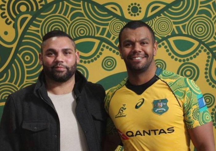 Kurtley Beale and Dennis Golding