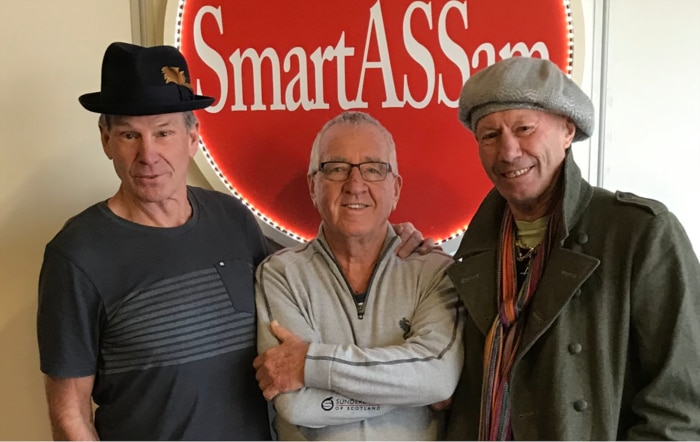 Sam Newman (left), Mike Sheahan (centre) and Don Scott.