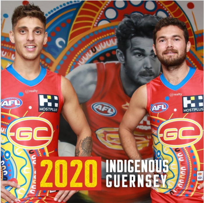 The 2020 Gold Coast Sun's Indigenous round guernsey.