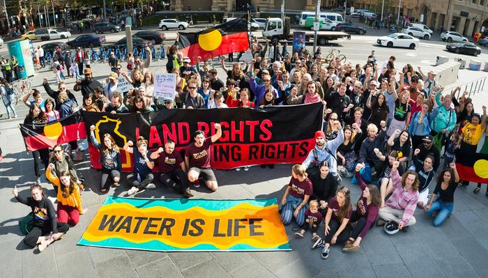 Don't Frack the NT Rally, calling on Michael Gunner to put a permanent ban on fracking in the NT.