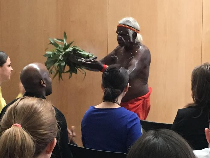 The WITBN Conference opening kicked off with a smoking ceremony.