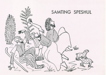 A Christmas story written in Kriol ' Samting speshul' over 30 years ago, now digitally restored