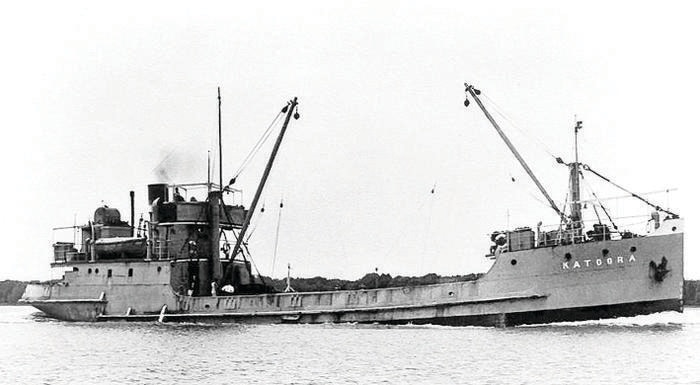The Katoora 1 boat that Edgar Williams served on.