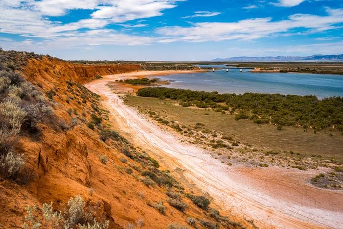At Port Augusta, the desert meets the sea.