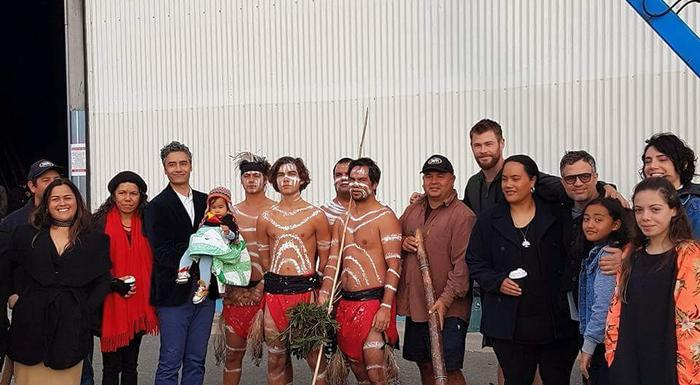 Maori director of Thor:Ragnarok which is being filmed in Australia said they were blessed with a traditional welcome to country by local custodians on the first day on set.