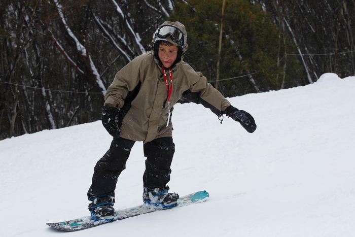Indigenous kids learn to snowboard