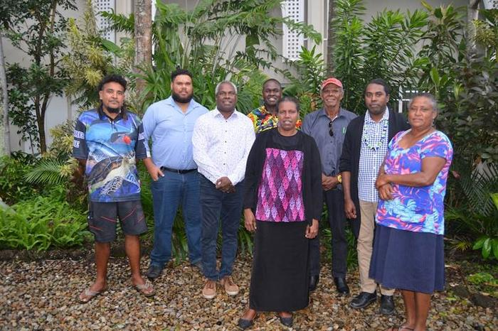 Eight Torres Strait Islander Traditional Owners who have lodged a formal compLaint against the the Australian Government to the un Human Rights Committee.