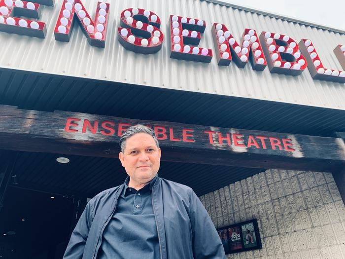 Wesley Enoch at the Ensemble theatre in Sydney. Supplied: James Marshall.