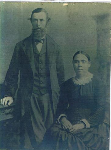 William and Lucy Leane circa. 1870