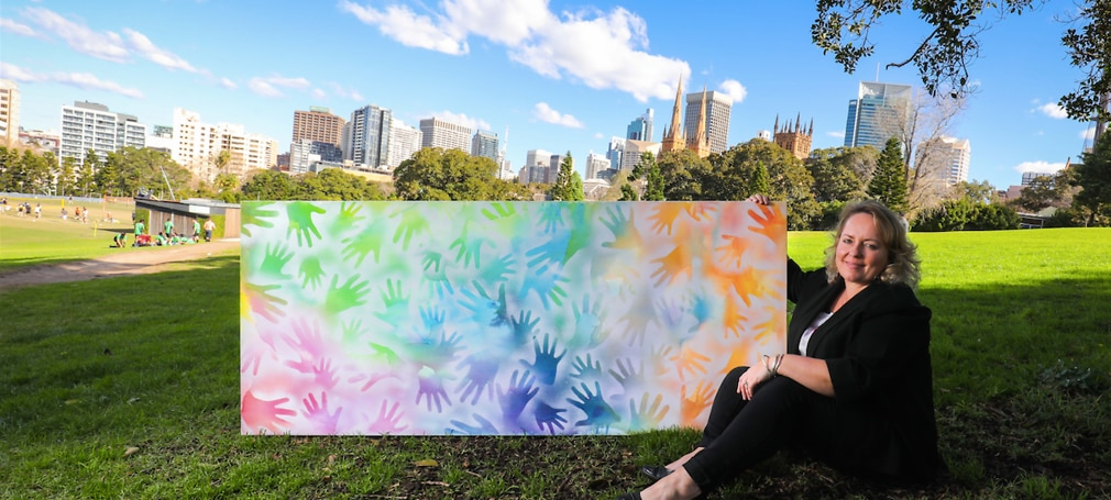 Shannon Foster with Artwork. 2018