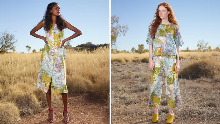 Indigenous art from the Great Sandy Desert finds a place in fashion