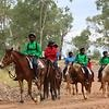 Indigenous kids on horseback for Anzac Day