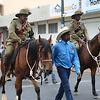 Indigenous, Marching through Alice Springs on Anzac Day.