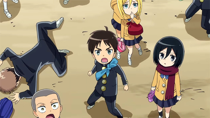 """""""Attack On Titan: Junior High"""" anime series to air in October   SBS PopAsia"""