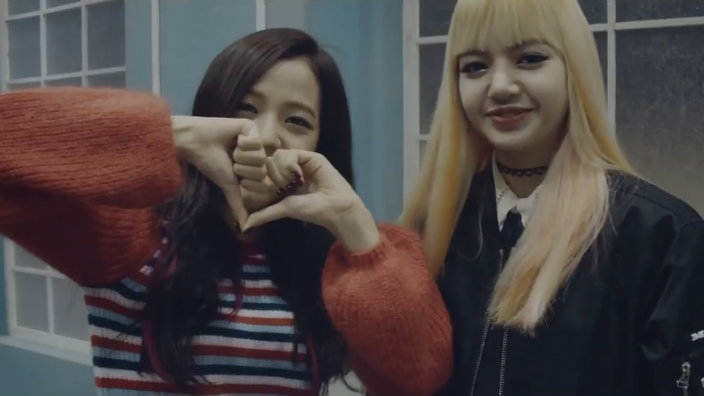 video black pink drop playing with fire behindthe