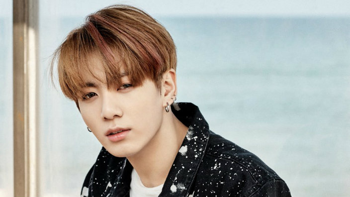 Jungkook Similar to J,Hope, when his bangs have a deep part and that sweet  sweet forehead is shown.