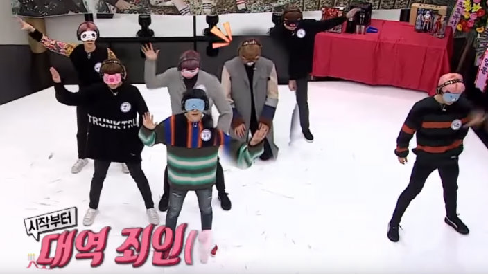 WATCH: BTS perform 'Not Today' - while blindfolded | SBS PopAsia