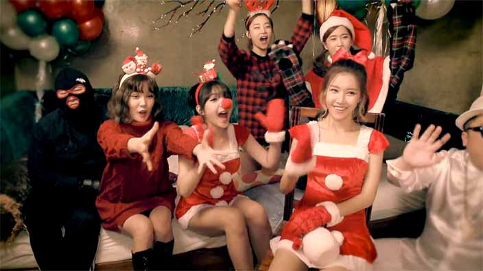 chrome entertainment drop love christmas mv feat crayon pop the christmas music videos have come flooding in being the beginning of the festive month - Pop Christmas Music