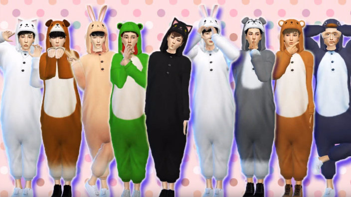 Video Exo Gets An Animal Costume Makeover In The Sims 4