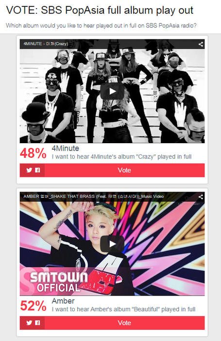 4Minute vs Amber results