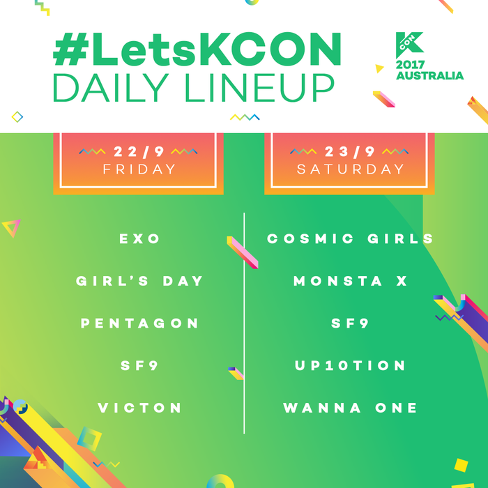 KCON line-up