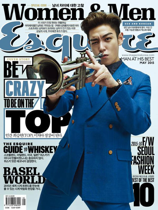 BIGBANG TOP Esquire Magazine May issue