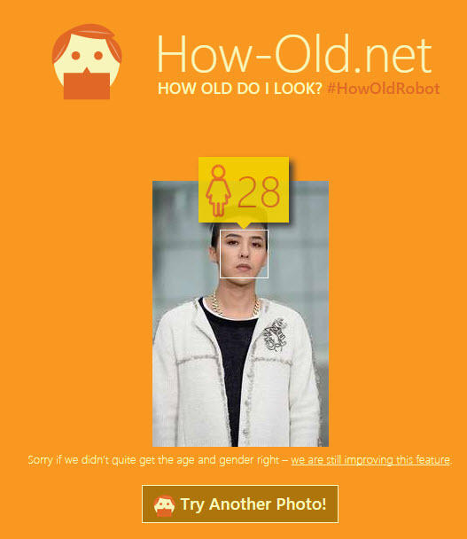 How-Old.net G-Dragon