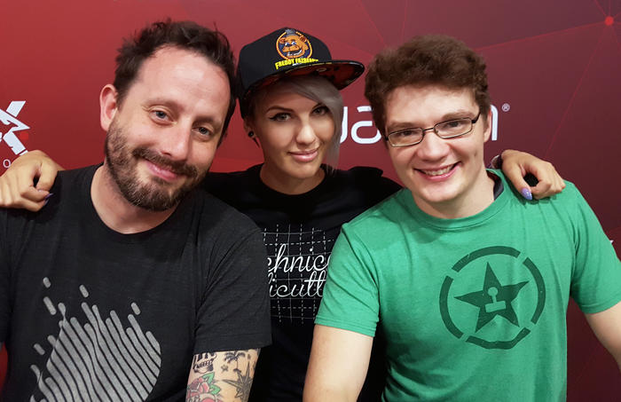 Geoff, Michael and Lucky at RTX